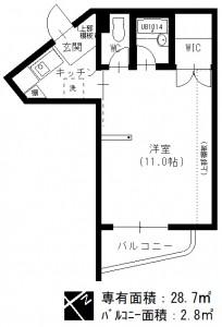 メゾンノーブル 名古屋市_リノベーション 間取図
